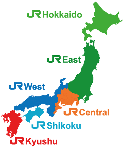 japan rail pass map